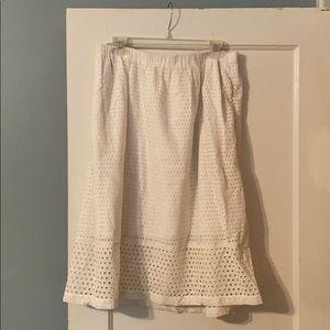 J. Crew White Skirt